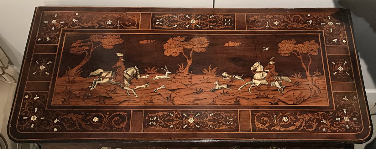 An Important North Italian (Lombardy) Rococo Marquetry U0026 Bone Inlaid Bombe  Commode