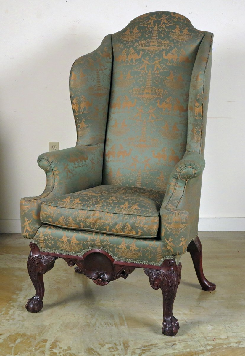 A Chippendale Style Mahogany Wing Back Chair Possibly Philadelphia - A Chippendale Style Mahogany Wing Back Chair Possibly Philadelphia